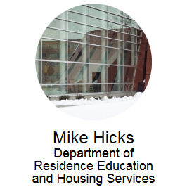 Mike Hicks, Department of Residence Education and Housing Services