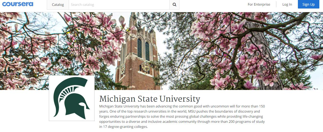 MSU's page on Coursera.