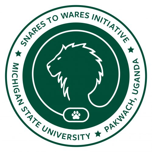"Patch for the Snares to Wares Initiative reading, ""Snares to Wares Initiative. Michigan State University, Pakwach, Uganda."""