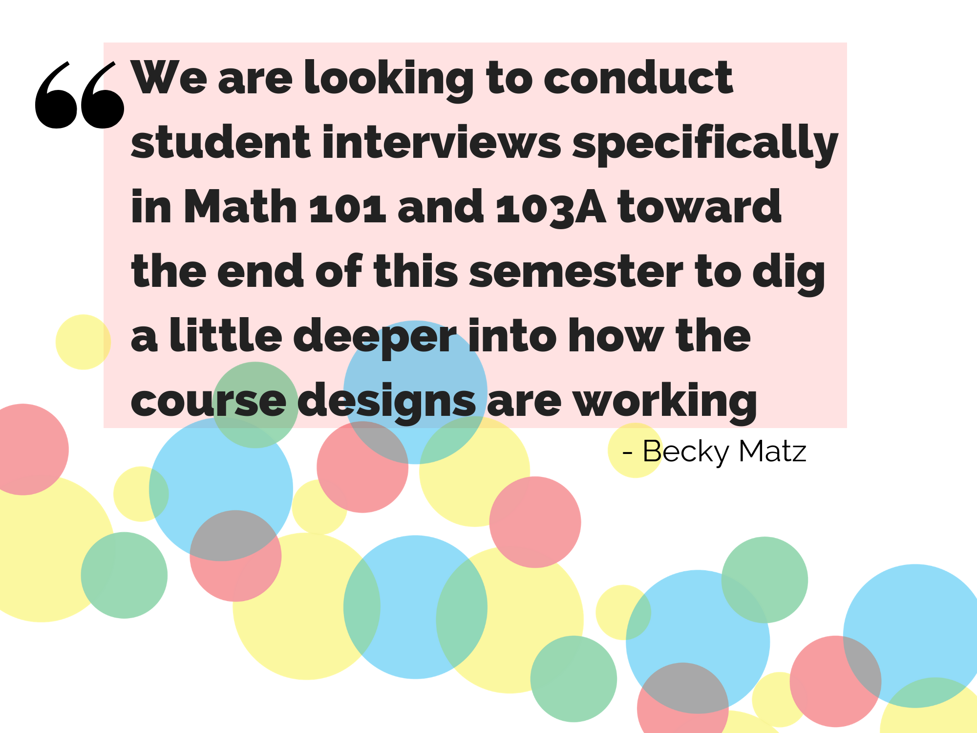 Quote from Becky Matz