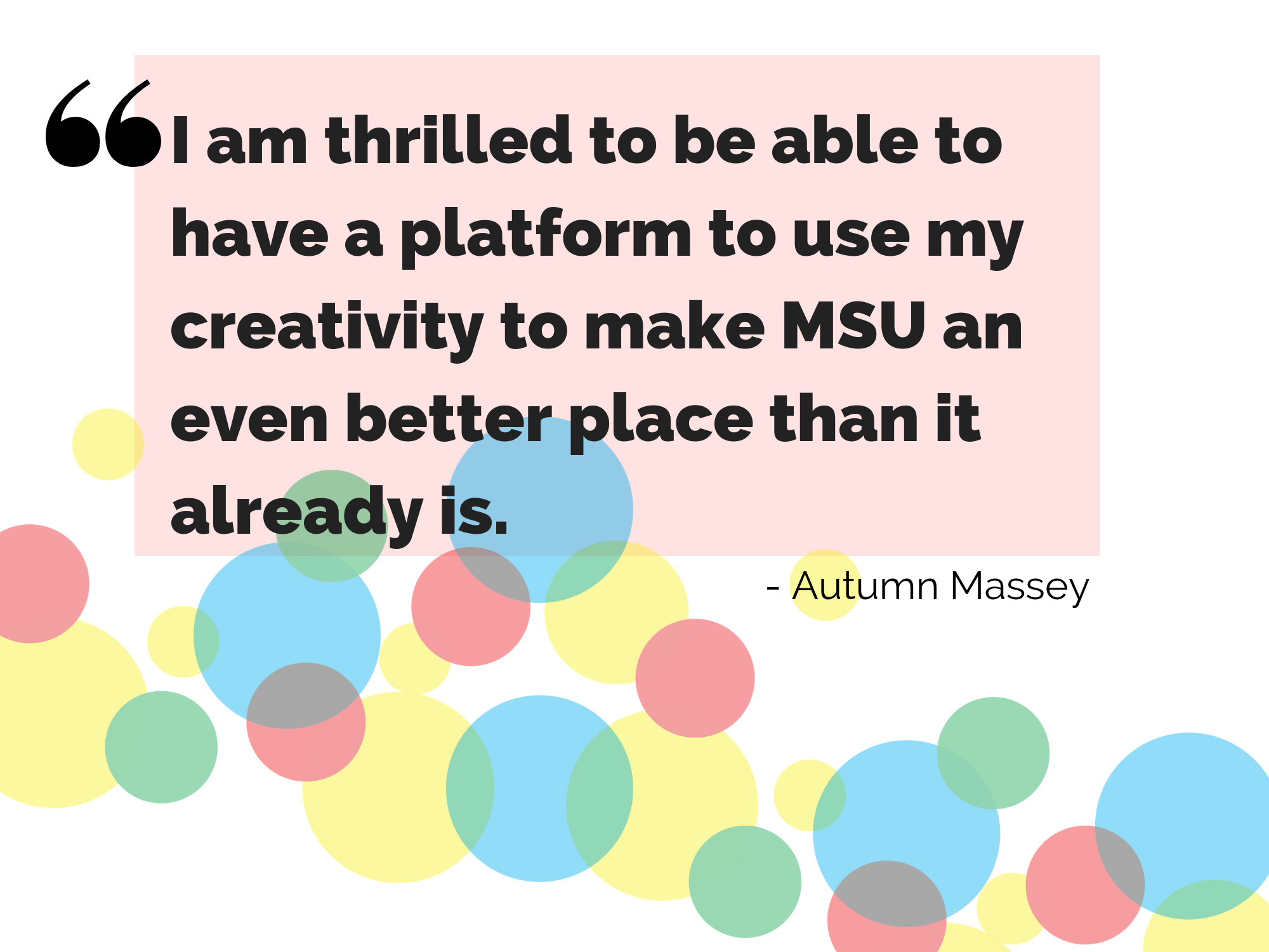 Hub template with quote from Autumn Massey.